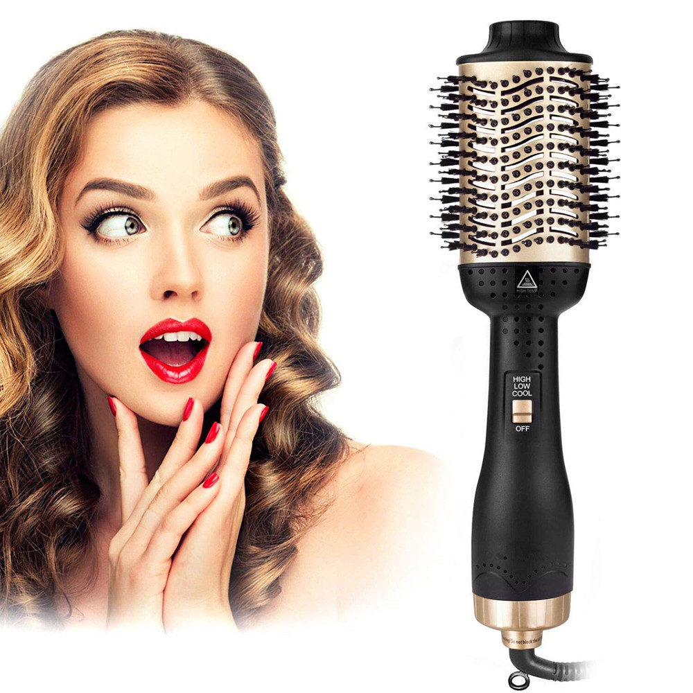 One-Step Hair Dryer & Volumizer Hot Air Styler Brush 5 In 1 Multifunctional Blow Dryer Brush Negative Ion Brushes Comb
