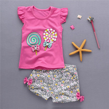 Shorts Outfits Pants Kids Clothes Cute Toddler Baby-Girls Cotton Summer Tee 3T 6m 12m