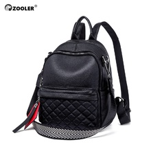 ZOOLER Women Backpack Female Real Soft Leather for Girls Teenager Bag Ladies fashion designed Mochila Bookbag