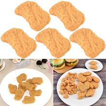 Toy Photography-Props Chicken Nugget Fake Simulation-Food Home-Decor Realistic 5pcs Lifelike