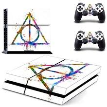 Геометрические узоры стиль наклейка кожи наклейка для PS4 Playstation 4 консоли защитная пленка+ 2 шт контроллеры защитный чехол