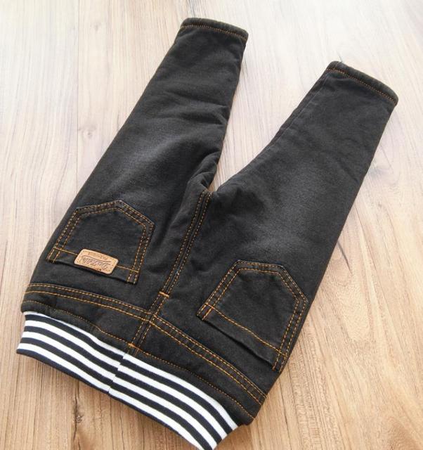 Baby Boys Clothing High Quality Thicken Winter Warm Cashmere Jeans  4