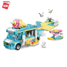 316Pcs Building Block 4804 Creative 3 Change Holiday Travel Girl Assembling Ship and Ice Cream Truck Gifts