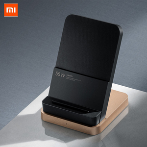 Image 1 - Originele Xiaxiaomi Draadloze Oplader 55W Max Verticale Luchtgekoelde Draadloze Opladen Ondersteuning Snelle Oplader Voor Xiaomi 10 Voor iphone