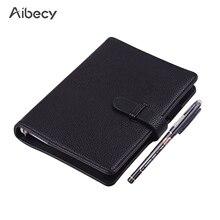 Wymazywalna wielokrotnego użytku inteligentny notatnik w twardej oprawie pisanie czasopisma zeszyt ze skóry luźnej na mokro Hot Erase A6 rozmiar 50 arkuszy Notebook