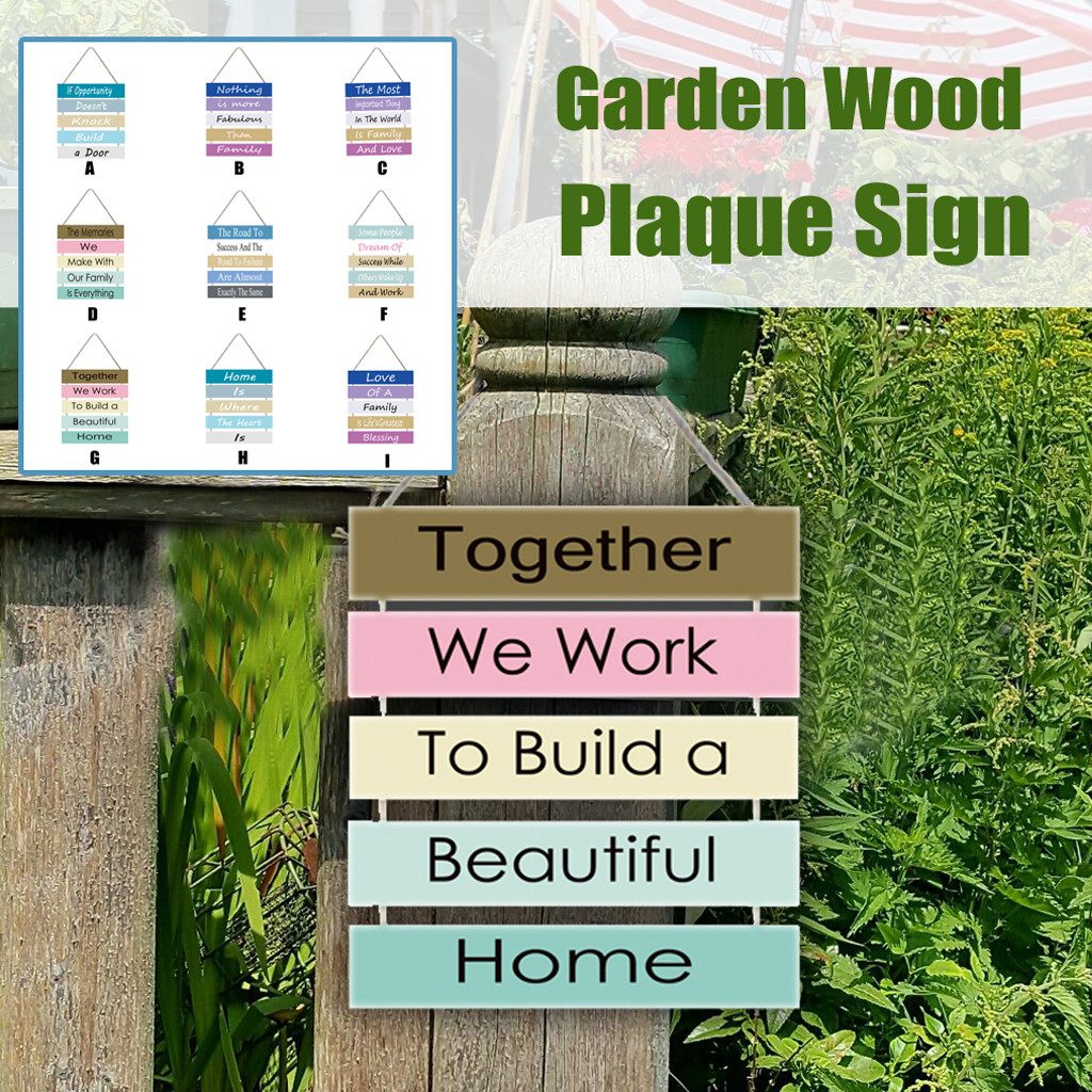garden wall decor sign