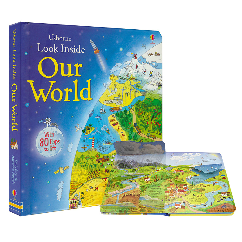 English Children Usborne Look Inside Our World Educational Picture Cardboard Books For Children English Language Reading Books