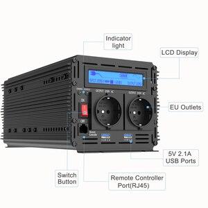 Image 2 - UPS מהפך טהור סינוס גל 2500W DC 12v ל ac 220v LCD תצוגה מהפך + מטען & UPS, שקט ומהיר תשלום אספקת חשמל