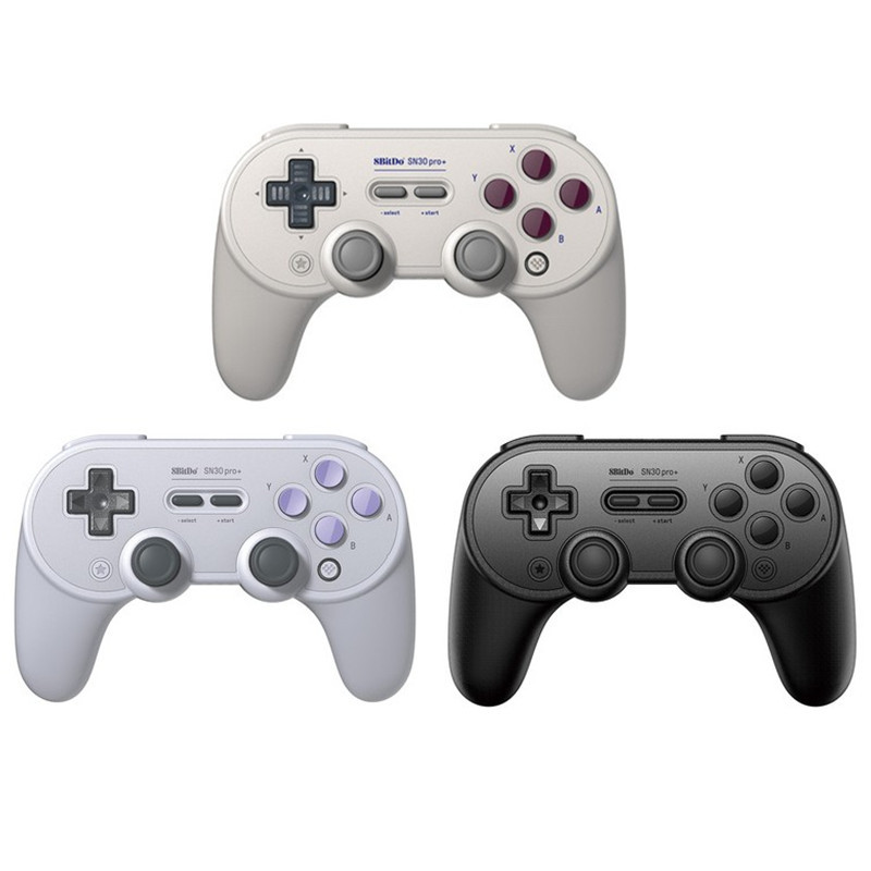 SN30 Pro Plus Official 8BitDo SN30 PRO+ Wireless Bluetooth Gamepad Controller Joystick Joypad for Windows Android macOS Steam Nintend Switch Console with Phone Holder Clip Optional(China)
