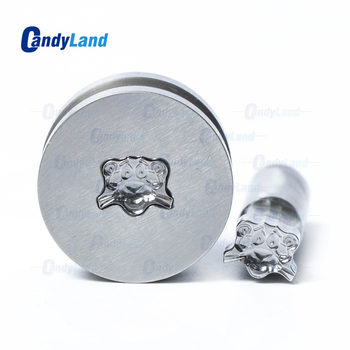 CandyLand Tiger Logo Tablet Die Powder Pill Press Mold Candy Punching Die Custom Logo Calcium Tablet Punch Die For TDP0 Machine