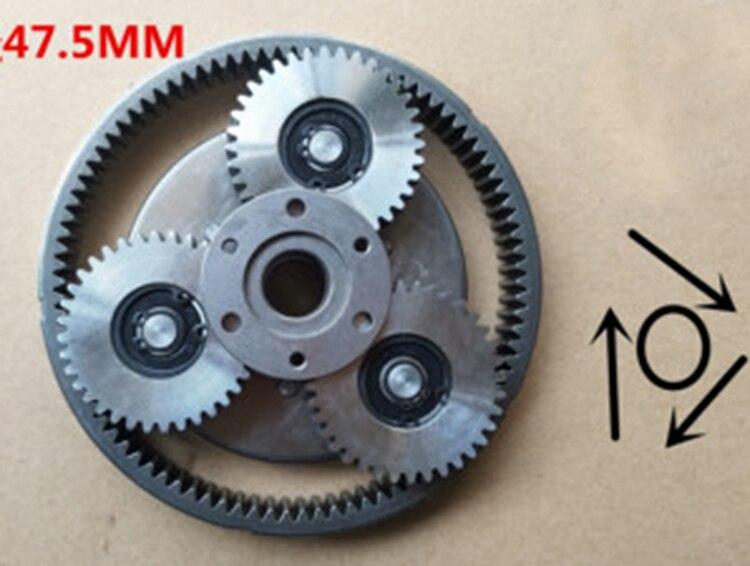 1Set 36Teeth Steel Gear Diameter:47.5mm Thickness:13.5mm Electric Vehicle Motor Steel Gear+Gear Ring+Clutch