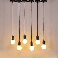 E27 Screw mouth Suspension type Pendant Light Lamp head DIY Retro strip line Hanging Lights Dining Hangs Lighting Accessories