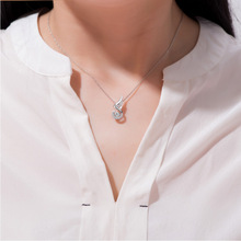 Fashion Charm lady Water Drop Chains Necklaces Classic Pendant Necklaces for Women Simple Style Jewelry Gift недорого