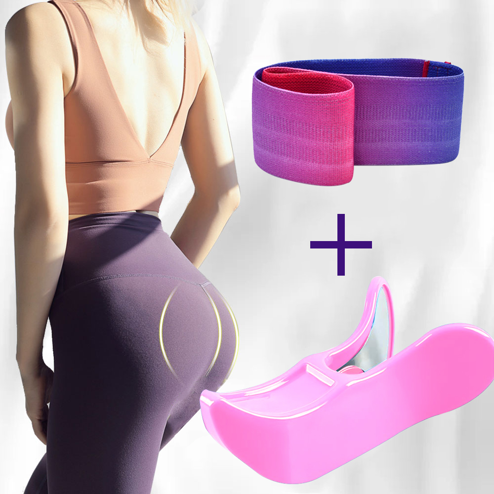 Hip Trainer Pelvic Muscle Exerciser Hip Circle Booty Bands Resistance Elastic Bands For Home Fitness Legs Butt Training Wome