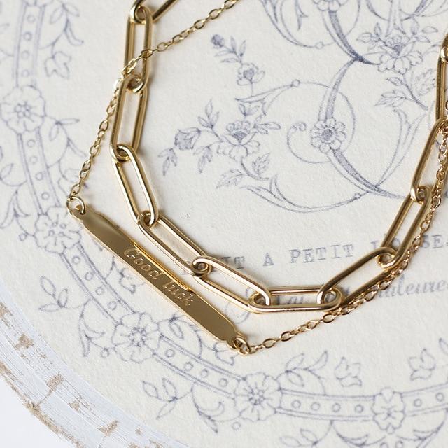 Amaiyllis 14k Gold Gute Glück Bar Armbänder Armreifen Double schicht Boho Charme für Frauen Handgelenk Armbänder Femme Schmuck