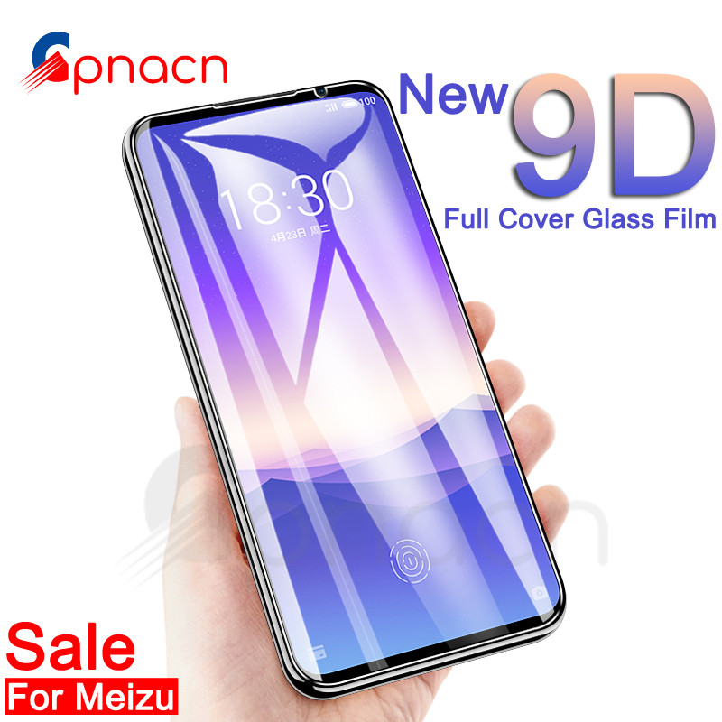 9D Protective Glass On The For Meizu 16 Th 16S 16X Plus X8 Note 8 9 M8 Pro 7 Plus Tempered Screen Protector Glass Film Case