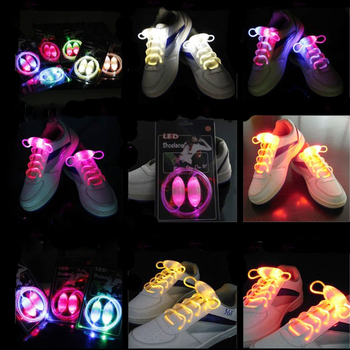 50pairs Party Skating Charming LED Flash Light Up Glow Shoelaces Shoe Laces Shoestrings for Shoe Accessories