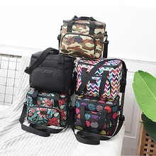 10LNew Printed Camping Bag 600D Oxford Picnic Beer Food Waterproof Lunch Box Portable Insulated For Hiking Sport
