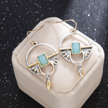 2019 New Vintage Ethnic Ear Hook Dangle Drop Earrings for Women Female Stone Bridal Party Wedding Jewelry Ornaments Accessories 2019 new vintage ethnic ear hook dangle drop earrings for women female stone bridal party wedding jewelry ornaments accessories