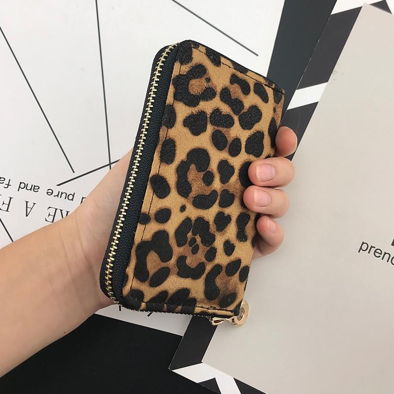 NICOLE & CO Fashion Girl New Short Leopard Grain Zipper Purse  Women Wallets Cards Holders Slim Coin Pocket Purse Money Bag