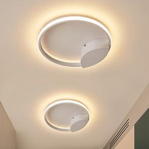 Image 4 - Светодиодная потолочная лампа для гостиной, спальни, кабинета, Декор для дома, Современная потолочная лампа с креплением на поверхность белого/кофе