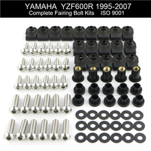 Motorcycle Complete Fairing Bolts Kit For Yamaha YZF600R 1995-2007 1998 1999 2000 2001 2002 2003 2004 2005 2006 Stainless Steel 2pcs for peugeot 206 1998 1999 2000 2001 2002 2003 2004 2005 2006 2007 with gift rear tailgate gas struts spring boot holders