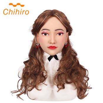 Realistic Soft Silicone Alice Female Head Masks Party for Crossdresser Cosplay Masquerade Transgender Halloween Make-up Mask 3G  - buy with discount