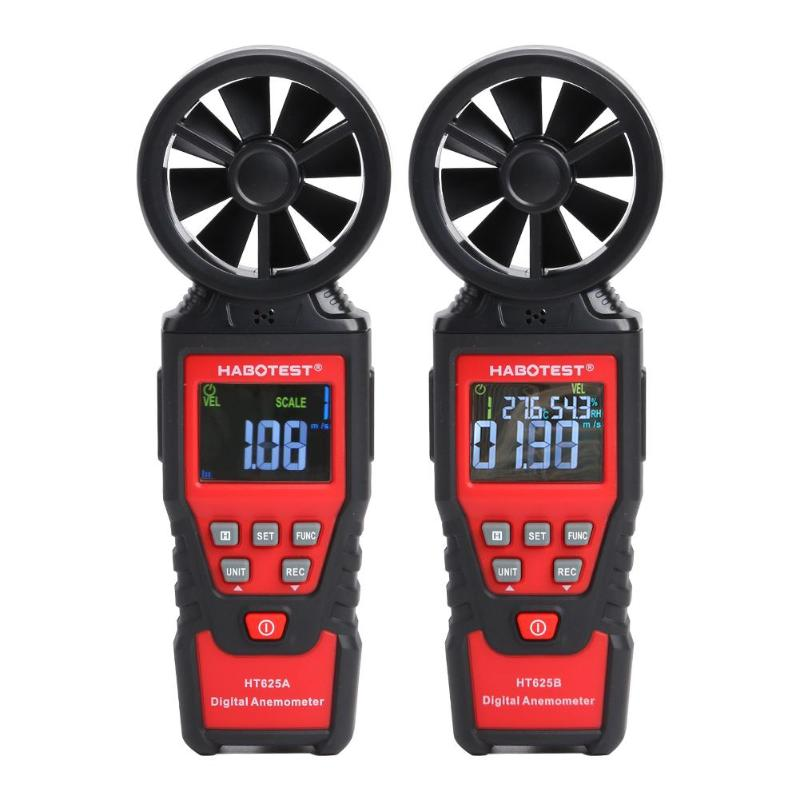 Anémomètre numérique Portable LCD thermomètre jauge de vitesse du vent compteur de vent