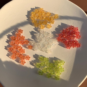 100 шт./упак. прозрачная цветная мини милая маленькая Цветочная заколка для волос ручной работы, украшение, серьги, аксессуары, материал
