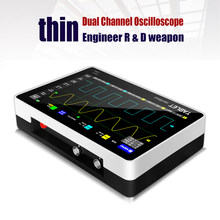 1013d 2 canais 100mhz * 2 faixa largura 1gsa/s taxa de amostragem osciloscópio com 7 Polegada cores tft tela de toque lcd de alta definição