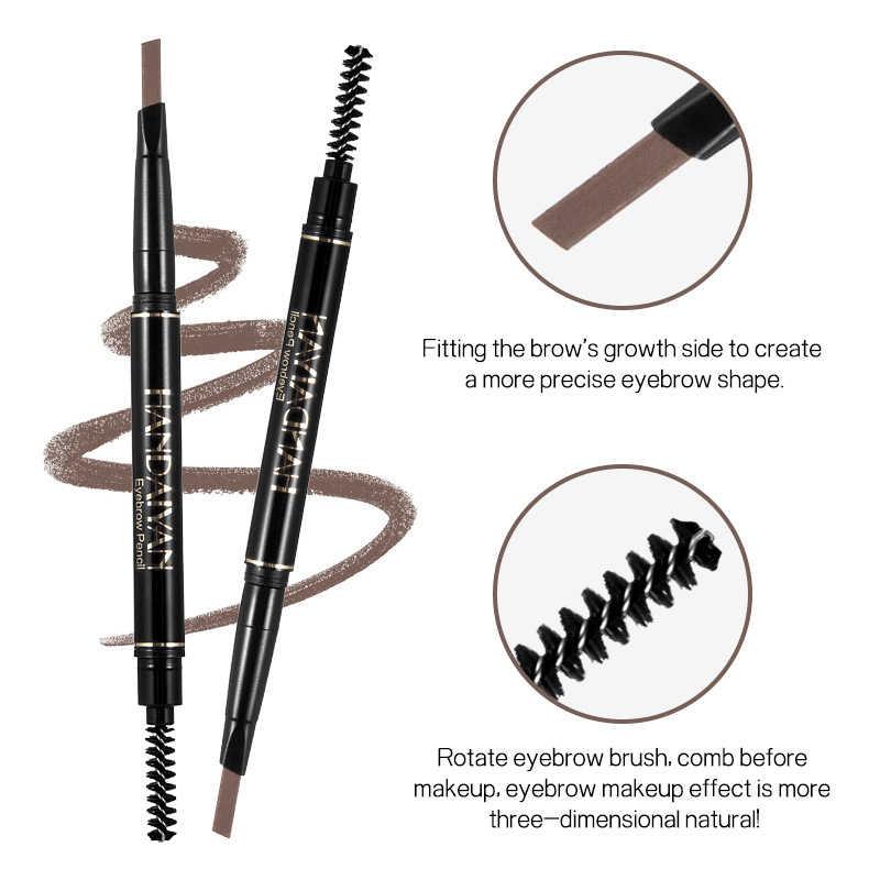 HANDAIYAN 5 kolorów dwugłowy automatyczny ołówek do brwi naturalny wodoodporny trwały grzywny szkic makijaż brwi kosmetyki TSLM2