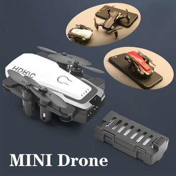 Mini RC Drone with Camera HD Foldable Helicopter 0.3MP Fixed Height Small Quadcopter Remote Control Pocket dron Best Gift Toys