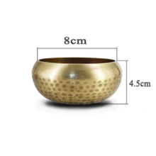 Bowl Hammered Chakra Meditation Tibetan Yoga Religious-Supplies Copper Buddhism Alms