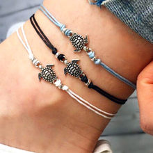 Women's Turtle Beach Foot Chain Anklets Vintage Boho Bracelet Fashion Layer Beads Anklets Women Fashion Barefoot Jewelry #Y2(China)