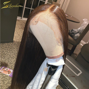 HD Transparent Lace Wigs Preplucked 13x6 Lace Front Human Hair Wigs for Women Invisible 6inch Deep T Part Lace Wig Long Straight