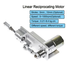 330S DIY Design Reciprocating Cycle Linear Actuator with DC Gear Motor 12V 24V 5/10mmStroke Adjustable 5~1000rpm Linear Motor 24v dc linear actuator 550mm linear drive window lift brush motor for window lift motor