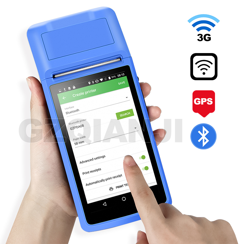 Wifi Handheld Terminal POS Android PDA device Bluetooth Thermal Printer 58 Wireless  Handheld Terminal PDA Camera Mobile devices|Scanners| - AliExpress