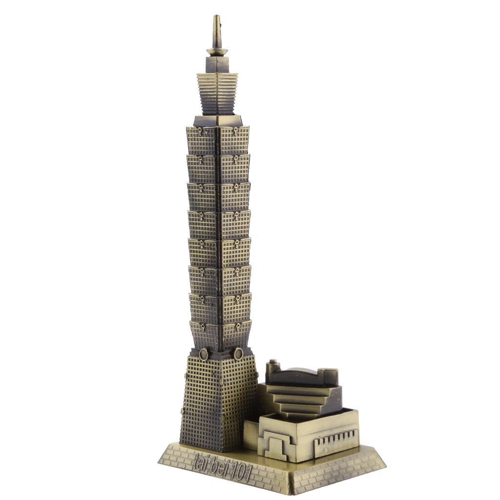 MagiDeal Bronze Taipei 101 Tower Building Architecture Model of Taiwan Desktop Ornament Travel Souvenir Gift(China)