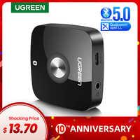 UGREEN Bluetooth 5,0 receptor Audio 3,5mm adaptador inalámbrico de música con EDR para el hogar estéreo sistema de transmisión de sonido del coche Bluetooth