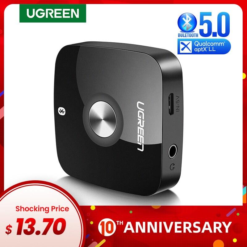 Ugreen bluetooth 5.0 receptor de áudio 3.5mm adaptador música sem fio com edr para casa sistema streaming som do carro estéreo bluetooth