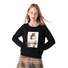 SEMIR 2020 Cashmere Knitted Sweater Women Pullover Turtleneck Autumn Winter Basic Women Sweater Korean Style Slim tops