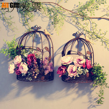 Iron Half Bird Cage Wall Hanging Flower Stand Ornaments Wedding Wall Decoration Outdoor Balcony Home Pendant Photography Props