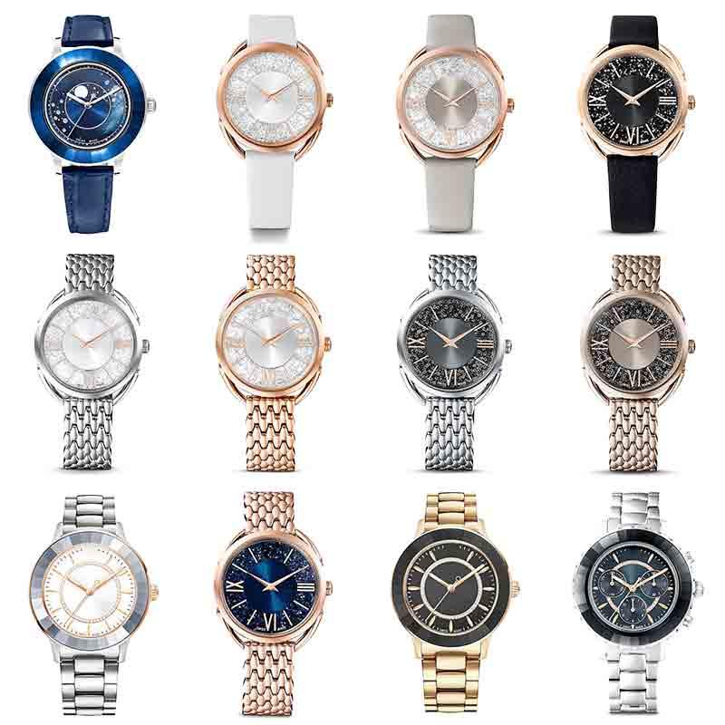 Высококачественные оригинальные часы австрийского бренда, роскошные часы из нержавеющей стали с кристаллами, мужские и женские парные час