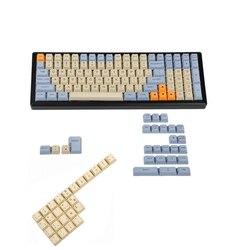 Лазерная гравировка YMDK, английская, итальянская, испанская, немецкая, ISO, OEM профиль, толстая клавиатура PBT для MX механической клавиатуры YMD96 ...