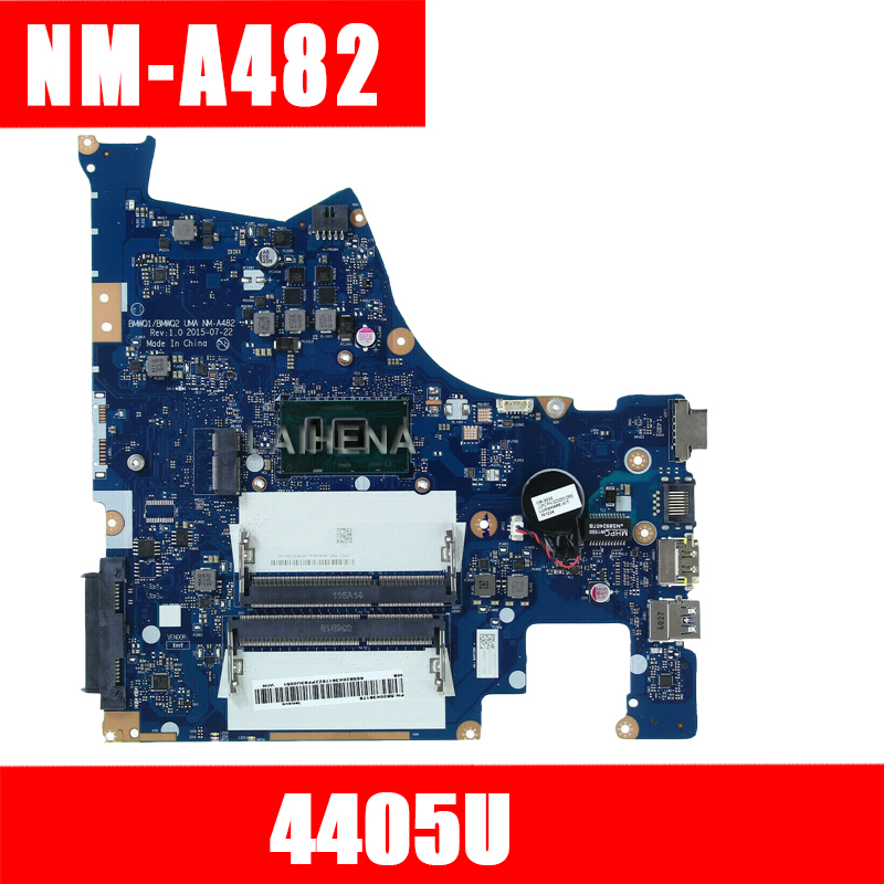 Free shipping tested New FOR Lenovo Ideapad 300-15isk BMWQ1 BMWQ2 NM-A482 notebook motherboard mother board with 4405U CPU