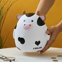Eğlenceli inek vinil kumbara para saklama kutusu yatak odası çalışma dekorasyon aksesuarları çocuklar kumbara doğum günü hediyeleri
