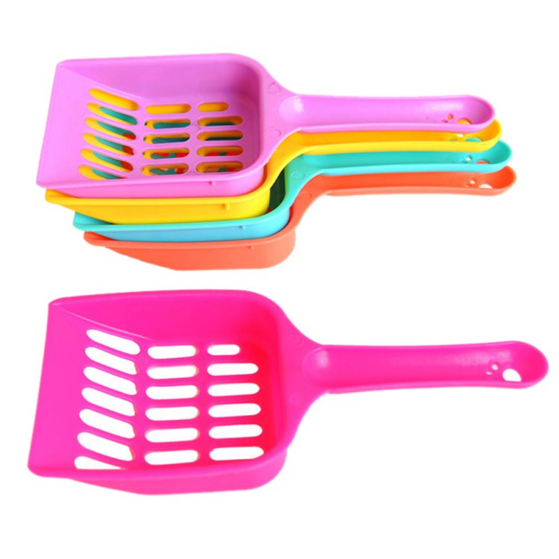 Useful Cat Litter Shovel Pet Cleanning Tool Plastic Scoop Cat Sand Cleaning Products Toilet For Dog Food Spoons
