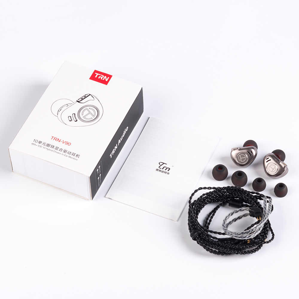 جديد TRN V90 4BA + 1DD الهجين المعادن في الأذن سماعة IEM HIFI DJ رصد تشغيل سماعة أذن تستخدم عند ممارسة الرياضة سدادة الأذن سماعة الرأس Im2/v80/X6