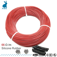 100 метров 66 Ом силиконовая резина углеродное волокно нагревательный кабель нагревательный провод DIY специальный нагревательный кабель для ...