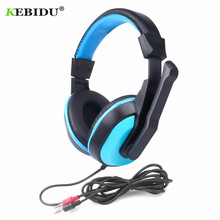 KEBIDU Gaming Headphones 3.5mm Adjustable Stereo Type Noise canceling Computer Headset With Microphones For PC Gamer